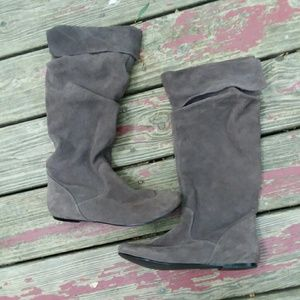 Steve Madden Taupe Suede Knee Heigh Boots Bonanza